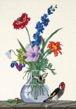 """""""Букет цветов, бабочка и птичка"""" Ф. Толстой"""