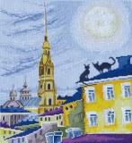 """""""Крыши Питера"""" по рисунку А. Майской"""