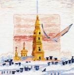 """""""Зима в Питере"""" по рисунку А. Майской"""