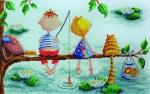 """Рыбалка"" Elina Ellis illustration"